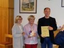 Kirchenchor in Weißbriach - Verleihung der Urkunden